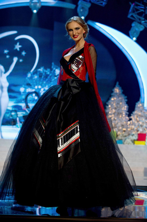 . Miss Georgia Tamar Shedania performs onstage at the 2012 Miss Universe National Costume Show at PH Live in Las Vegas, Nevada December 14, 2012. The 89 Miss Universe contestants will compete for the Diamond Nexus Crown on December 19, 2012. REUTERS/Darren Decker/Miss Universe Organization L.P./Handout