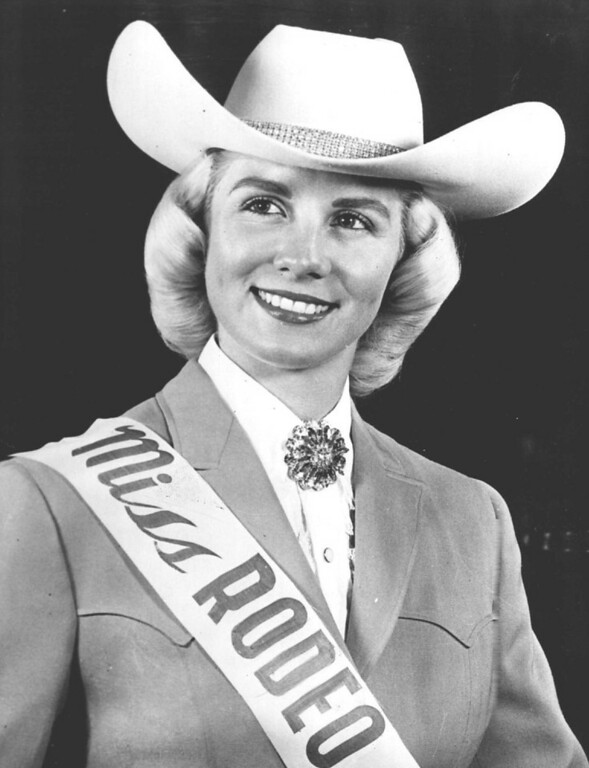 . Karen Lavens, Idaho State College sophomore from Jerome, begins her reign as Miss Rodeo America of 1962 at the annual Stockmen\'s Ball in Denver Jan. 11. She will also appear in the parade in downtown Denver and other events connected with the National Western Stock Show. 1962