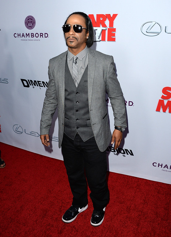""". Actor Katt Williams arrives at the Dimension Films\' \""""Scary Movie 5\"""" premiere at the ArcLight Cinemas Cinerama Dome on April 11, 2013 in Hollywood, California.  (Photo by Jason Merritt/Getty Images)"""