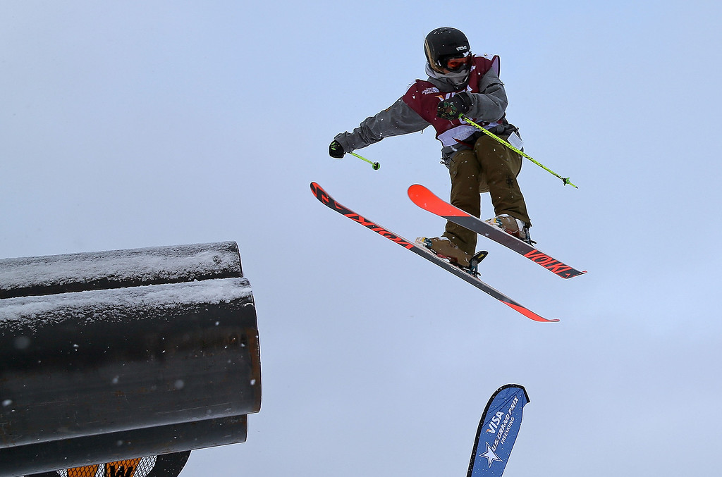 . Anna Willcox-Silfverberg of New Zealand competes during qualifying for the women\'s FIS Ski Slopestyle World Cup at U.S. Snowboarding and Freeskiing Grand Prix on December 20, 2013 in Copper Mountain, Colorado.  (Photo by Mike Ehrmann/Getty Images)