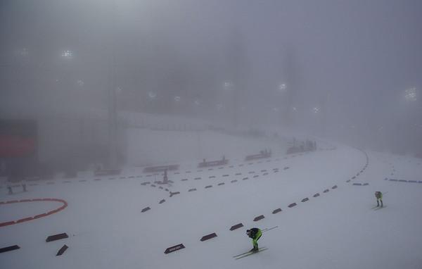 PHOTOS: Postponed by fog, Men's Biathlon 15k at 2014 Sochi Winter Olympics