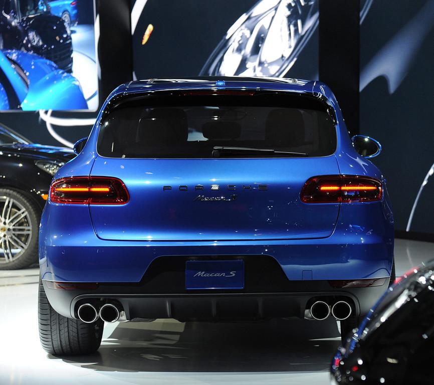. Porsche world premiere of the Macan S model at the 2013 LA Auto Show in Los Angeles, California, USA, 20 November 2013.  EPA/BOB RIHA JR