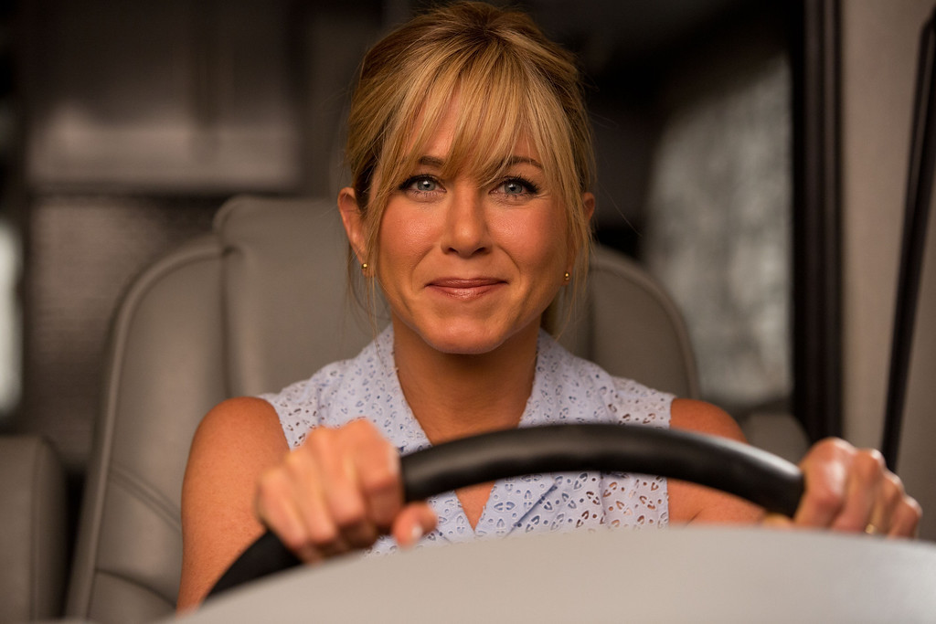 . JENNIFER ANISTON as Rose in New Line Cinema� action comedy  WE\'RE THE MILLERS, a Warner Bros. Pictures release.