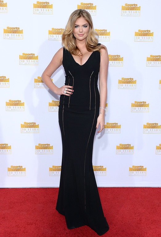. Model Kate Upton attends NBC and Time Inc. celebrate the 50th anniversary of the Sports Illustrated Swimsuit Issue at Dolby Theatre on January 14, 2014 in Hollywood, California.  (Photo by Dimitrios Kambouris/Getty Images)