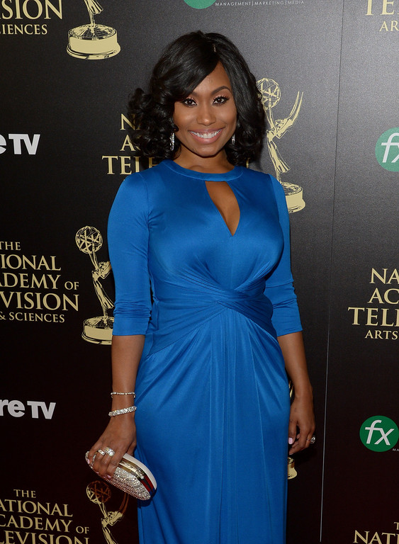 . Actress Angell Conwell attends The 41st Annual Daytime Emmy Awards at The Beverly Hilton Hotel on June 22, 2014 in Beverly Hills, California.  (Photo by Jason Kempin/Getty Images)