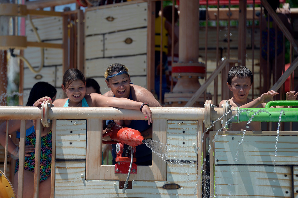 . Families take in a day to cool off at Pirates Cove July 16, 2013. (Photo By John Leyba/The Denver Post)