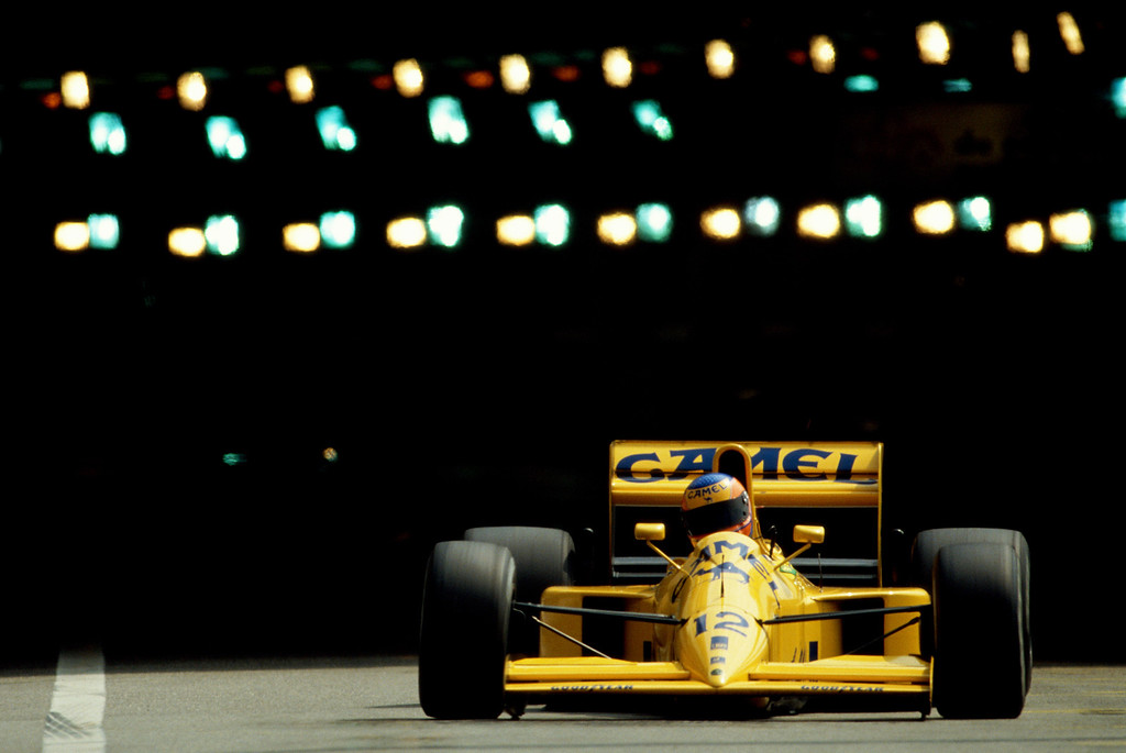 . Martin Donnelly drives the Lotus-Lamborghini 102 during practice for the Monaco Grand Prix on 26 May 1990 at the  Monaco street circuit in Monte Carlo, Monaco (Photo by Pascal Rondeau/Getty Images)