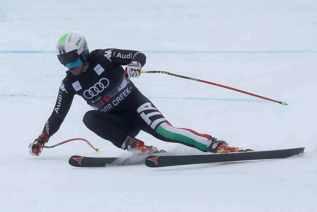 . Peter Fill of Italy skis during the FIS Beaver Creek Men\'s Downhill World Cup race on December 6, 2013 in Beaver Creek, Colorado.  (Photo by Ezra Shaw/Getty Images)