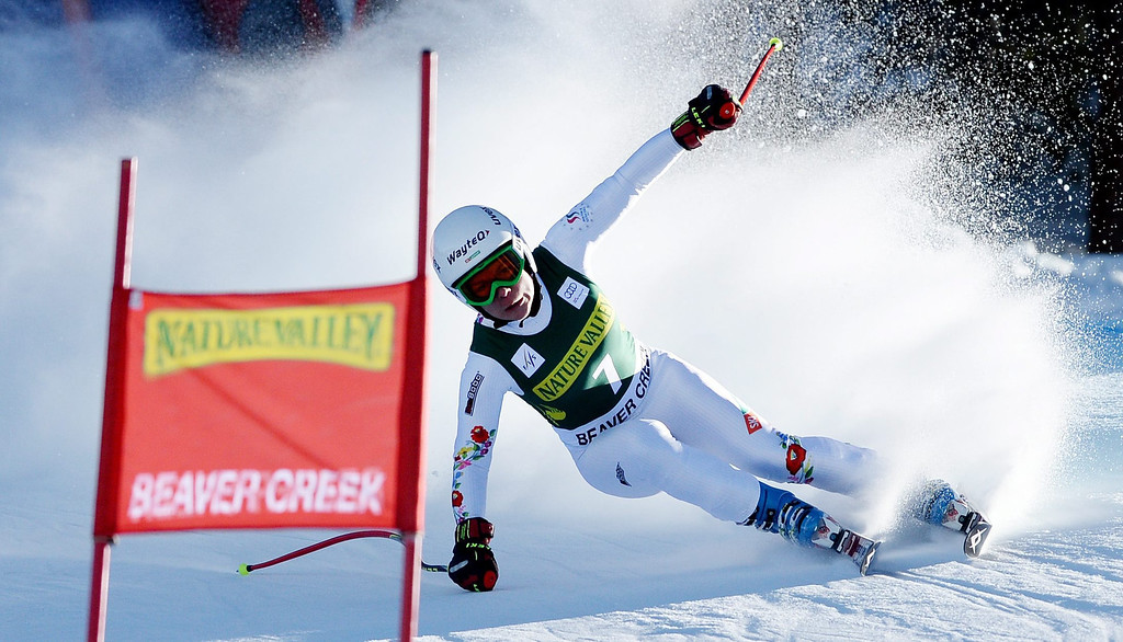 . Skier Edit Miklos of Hungary, takes a turn during the women\'s downhill race at the FIS World Cup Alpine Skiing in Beaver Creek, Colorado, USA, 29 November 2013.  EPA/JUSTIN LANE
