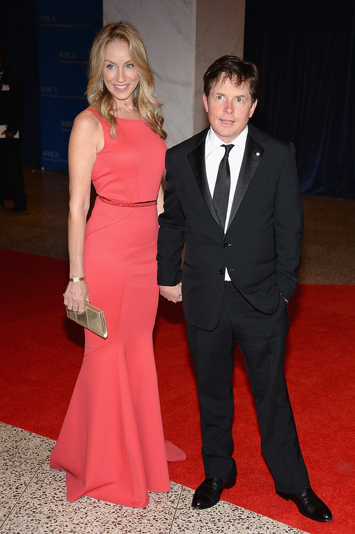 . WASHINGTON, DC - APRIL 27:  Tracy Pollan and Michael J. Fox attend the White House Correspondents\' Association Dinner at the Washington Hilton on April 27, 2013 in Washington, DC.  (Photo by Dimitrios Kambouris/Getty Images)
