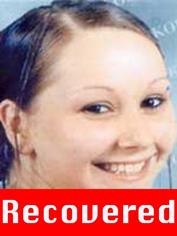 ". This photograph obtained on May 6, 2013 courtesy of the FBI shows Amanda Berry, who went missing on April 21, 2003, after leaving the fast food restaurant at which she was employed a decade ago, and was found alive May 6, 2013 in a residential area of Cleveland, Ohio. Three women who had been missing for years -- two of whom disappeared as teenagers -- were found alive in a house in Cleveland, police in the US state of Ohio said Monday. ""All three women, Amanda Berry, Gina DeJesus and Michele Knight, seem to be in good health,\"" Cleveland police said in a statement. (Picture are right is a \""photograph progressed to 17 years) AFP PHOTO /  FBI"
