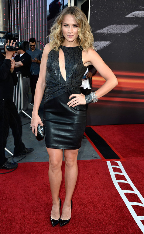 """. Actress Shantel VanSanten arrives at the Premiere Of Universal Pictures\' \""""Fast & Furious 6\"""" on May 21, 2013 in Universal City, California.  (Photo by Frazer Harrison/Getty Images)"""