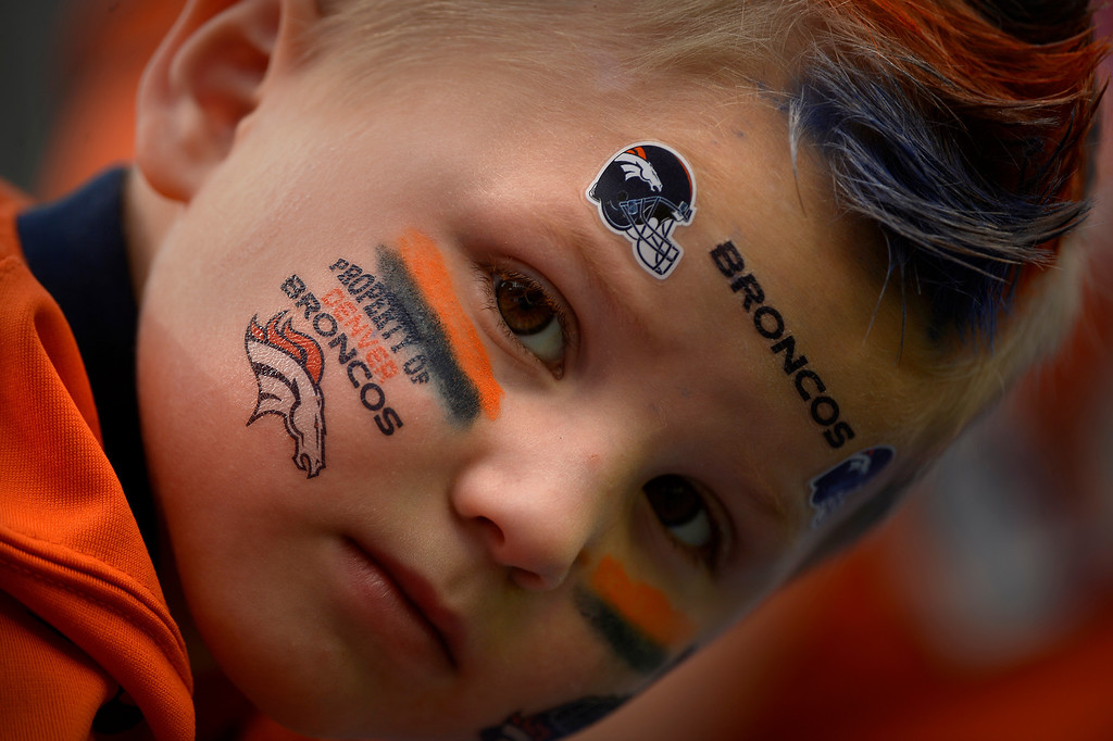 . EAST RUTHERFORD, NJ. - September 15: Peyton Seay 4 years old of Minot ND here for the Manning bowl 3 with his family as the Denver Broncos take on  the New York Giants at METLIFE Stadium. September 15, 2013 East Rutherford, NJ. (Photo By Joe Amon/The Denver Post)