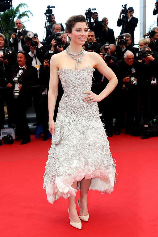 . Actress Jessica Biel attends \'Inside Llewyn Davis\' Premiere during the 66th Annual Cannes Film Festival at Palais des Festivals on May 19, 2013 in Cannes, France.  (Photo by Vittorio Zunino Celotto/Getty Images)
