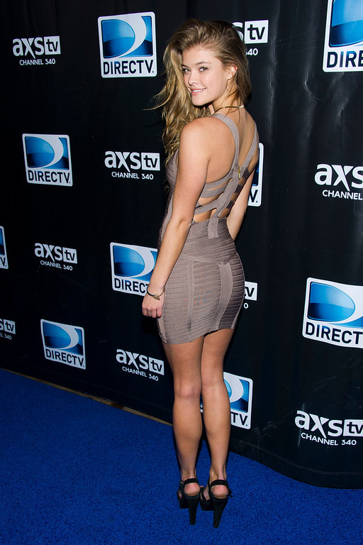 . Nina Agdal attends DIRECTV\'s Super Saturday Night Party on Saturday, Feb. 1, 2014 in New York. (Photo by Charles Sykes/Invision/AP)