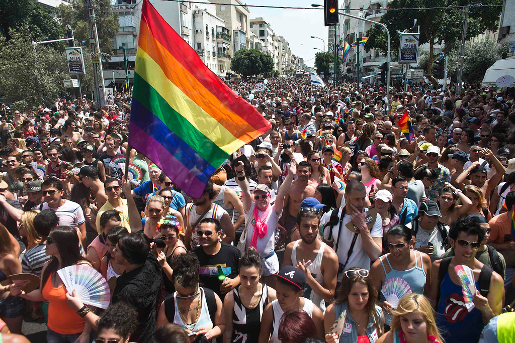 . People take part at the annual Gay Pride parade in Tel Aviv June 7, 2013.  REUTERS/Nir Elias