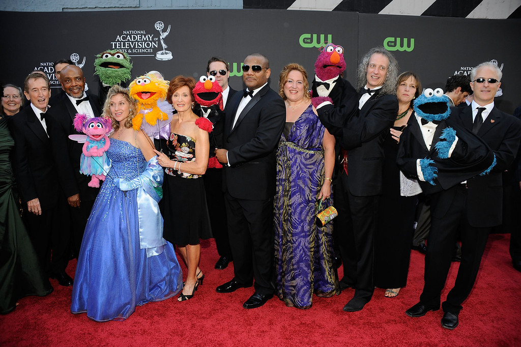 ". Cast and crew of ""Sesame Street\"" attend the 36th Annual Daytime Emmy Awards at The Orpheum Theatre on August 30, 2009 in Los Angeles, California.  (Photo by Frazer Harrison/Getty Images  (Photo by Frazer Harrison/Getty Images)"