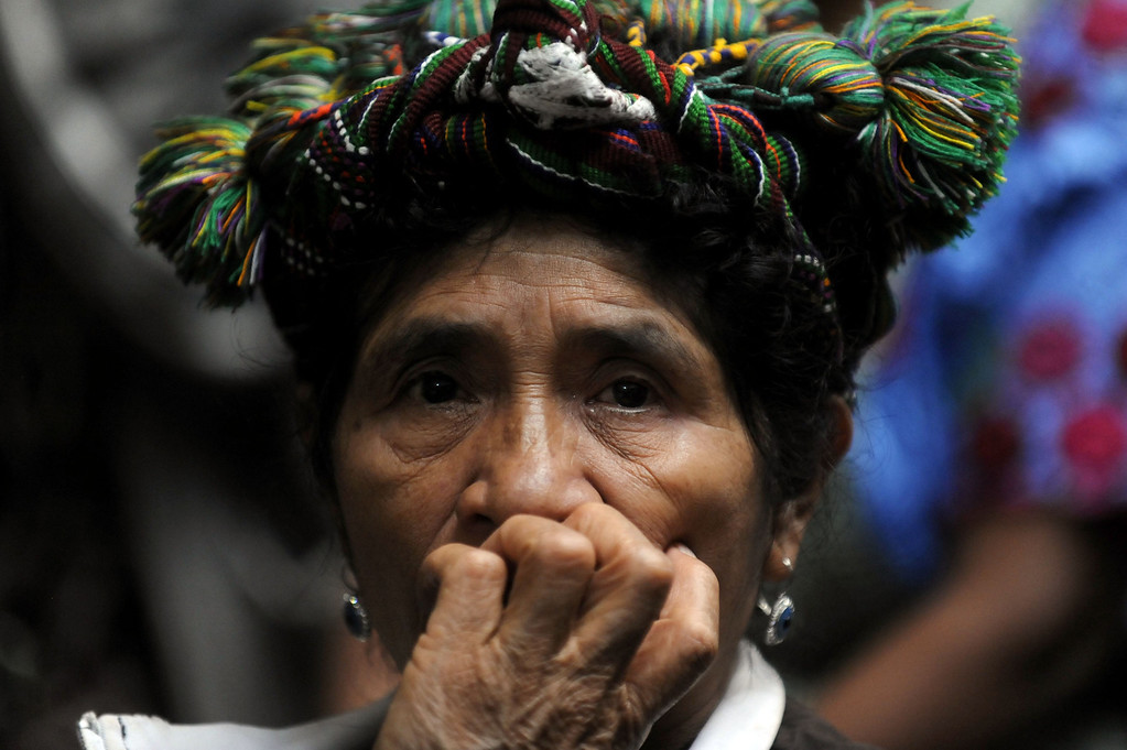 . A Ixil indigenous woman, survivor of Guatemalan civil war, attends the trial against former Guatemalan dictator  retired General Jose Efrain Rios Montt (1982-1983) in Guatemala City on May 9, 2013. JOHAN ORDONEZ/AFP/Getty Images