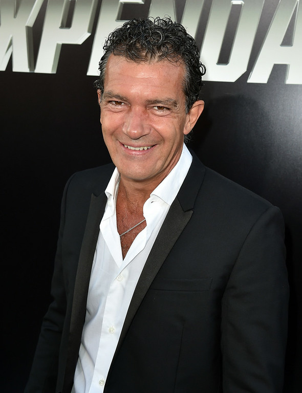 """. Actor Antonio Banderas attends the premiere of Lionsgate Films\' \""""The Expendables 3\"""" at TCL Chinese Theatre on August 11, 2014 in Hollywood, California.  (Photo by Kevin Winter/Getty Images)"""