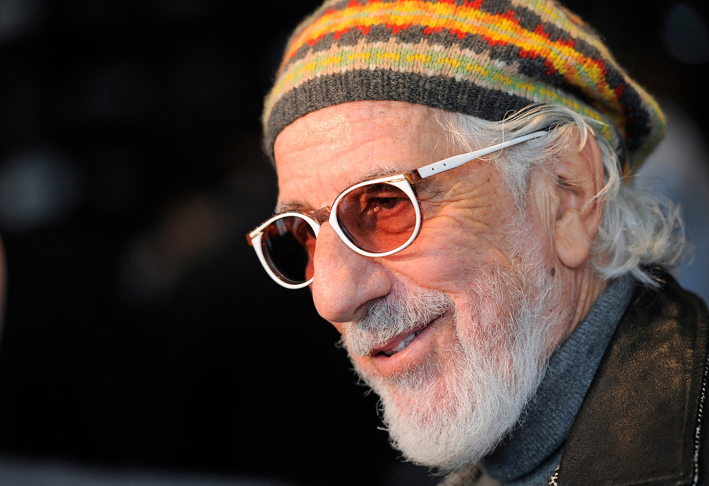 . Rock and Roll Hall of Fame inductee Lou Adler is interviewed following a news conference to announce the 2013 inductees, Tuesday, Dec. 11, 2012, in Los Angeles. The 28th Annual Rock and Roll Hall of Fame Induction Ceremony will be held at the Nokia Theatre L.A. Live in Los Angeles on April 18, 2013. (Photo by Chris Pizzello/Invision/AP)