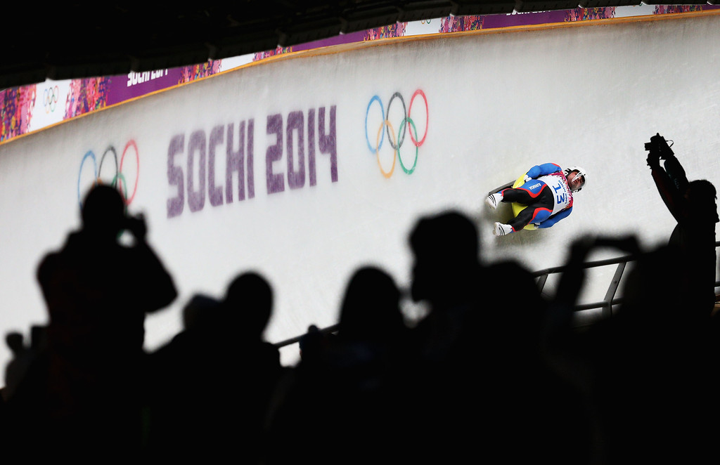 . Jozef Ninis of Slovakia competes during the Men\'s Luge Singles on Day 2 of the Sochi 2014 Winter Olympics at Sliding Center Sanki on February 9, 2014 in Sochi, Russia.  (Photo by Paul Gilham/Getty Images)