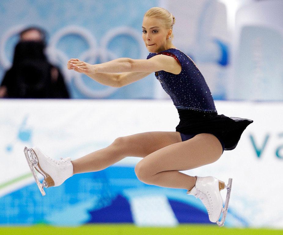 . Finland\'s Kiira Korpi performs her free program at the women\'s figure skating competition at the Vancouver 2010 Olympics in Vancouver, British Columbia, Thursday, Feb. 25, 2010. (AP Photo/David J. Phillip)