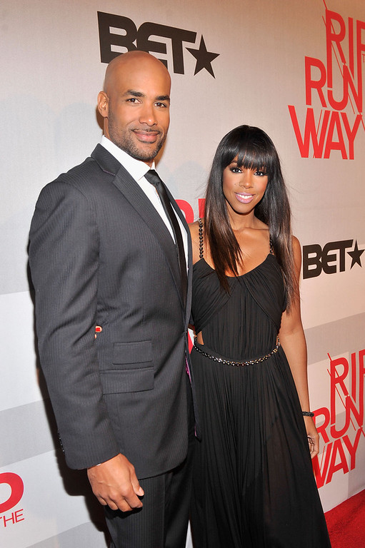 . Hosts Boris Kodjoe and Kelly Rowland attend BET\'s Rip The Runway 2013:Red Carpet at Hammerstein Ballroom on February 27, 2013 in New York City.  (Photo by Stephen Lovekin/Getty Images for BET\'s Rip The Runway)