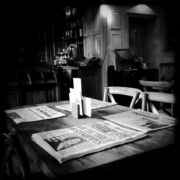 . Newspapers on a table at the Orange Restaurant on May 2, 2012 in London, England. (Photo by Vittorio Zunino Celotto/Getty Images)