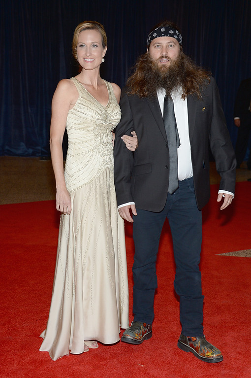 . WASHINGTON, DC - APRIL 27:  Korie Robertson and Willie Robertson attends the White House Correspondents\' Association Dinner at the Washington Hilton on April 27, 2013 in Washington, DC.  (Photo by Dimitrios Kambouris/Getty Images)