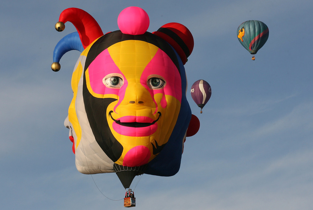 . Balloons take off during the Hot Air Balloon Festival in Leon, Mexico, Friday, Nov. 15, 2013. More than 200 balloons from different countries participated in this year\'s festival. (AP Photo/Mario Armas)