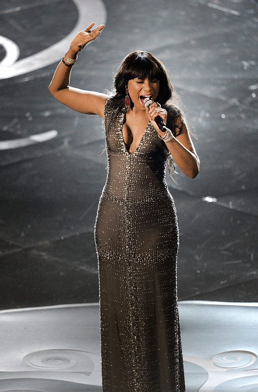 . Singer/actress Jennifer Hudson performs onstage during the Oscars held at the Dolby Theatre on February 24, 2013 in Hollywood, California.  (Photo by Kevin Winter/Getty Images)