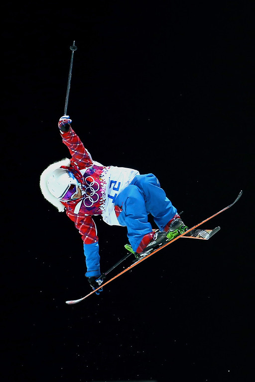 . Marie Martinod of France competes in the Freestyle Skiing Ladies\' Ski Halfpipe Finals on day thirteen of the 2014 Winter Olympics at Rosa Khutor Extreme Park on February 20, 2014 in Sochi, Russia.  (Photo by Streeter Lecka/Getty Images)