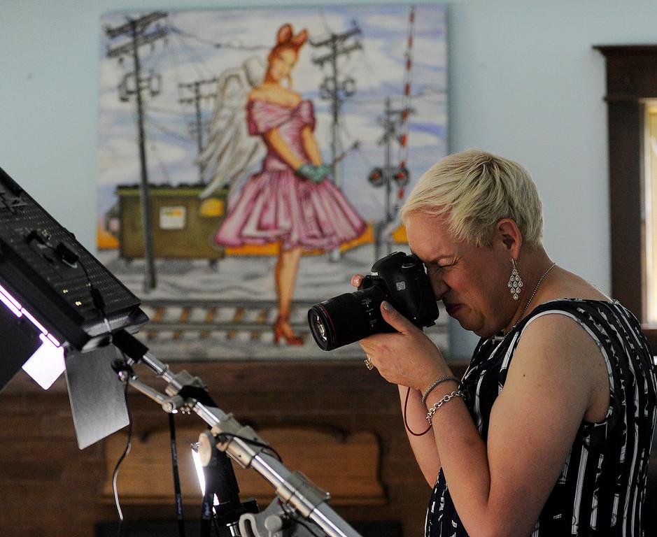 . Koko Brentano on Monday, June 17, 2013 at Koko\'s Denver photo studio photographing Sara. (Photo By Cyrus McCrimmon/The Denver Post)