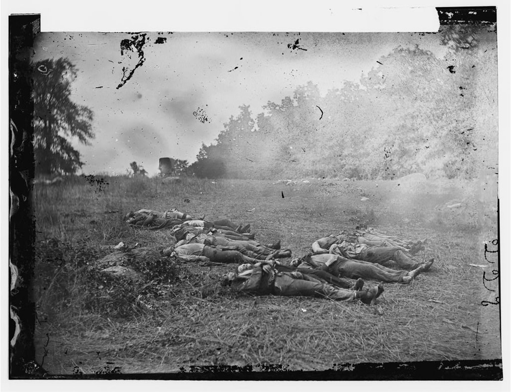 . Gettysburg, Pa. Confederate dead at the edge of the Rose woods, July 5, 1863  - Library of Congress Prints and Photographs Division Washington, D.C.