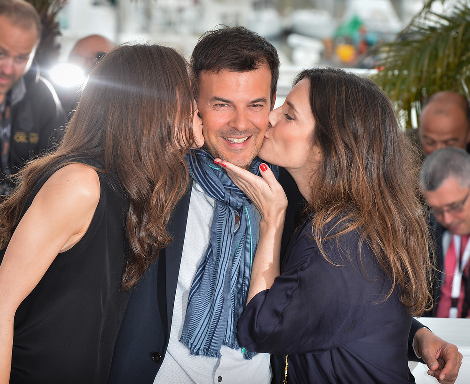 . Actress Marine Vacth, director Francois Ozon and actress Geraldine Pailhas attends the photocall for \'Jeune & Jolie\' (Young & Beautiful) at The 66th Annual Cannes Film Festival on May 16, 2013 in Cannes, France.  (Photo by George Pimentel/Getty Images)