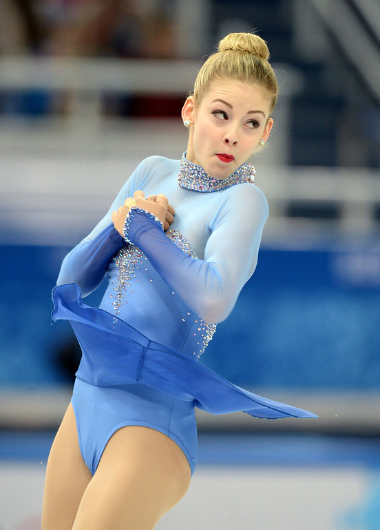 . US Gracie Gold performs in the Women\'s Figure Skating Free Program at the Iceberg Skating Palace during the Sochi Winter Olympics on February 20, 2014. YURI KADOBNOV/AFP/Getty Images
