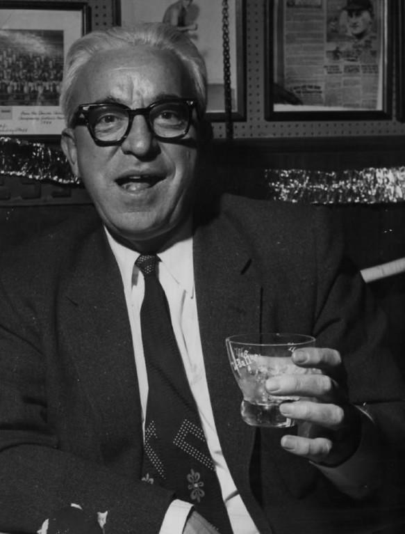 ". JAN 14 1958 - Martin J. Murphy: Prohibition? \""...most corruptive thing ever legislated.\"" (Dean Conger/The Denver Post)"