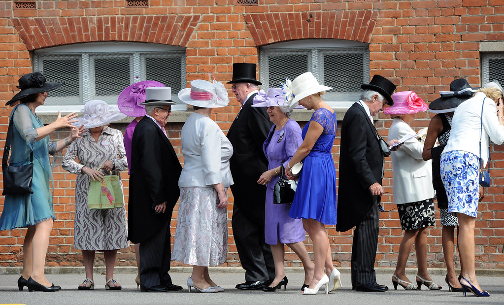. Racegoers queue up on Day 3 of Royal Ascot at Ascot Racecourse on June 19, 2014 in Ascot, England.  (Photo by Stuart C. Wilson/Getty Images)