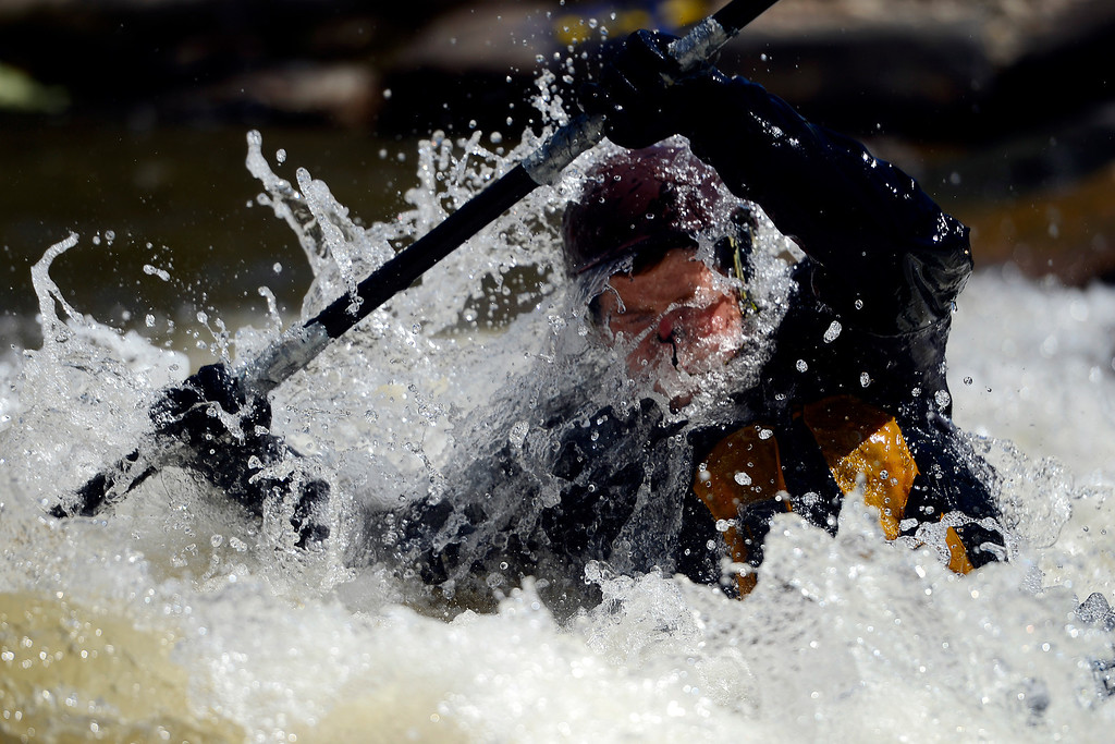 . Skyler Van Zandt during Golden Games at the Clear Creek Whitewater Park. (Photo by AAron Ontiveroz/The Denver Post)