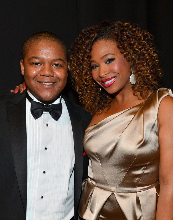 . LOS ANGELES, CA - FEBRUARY 01:  Actor Kyle Massey (L) and TV Personality Tanika Ray attend the 44th NAACP Image Awards at The Shrine Auditorium on February 1, 2013 in Los Angeles, California.  (Photo by Alberto E. Rodriguez/Getty Images for NAACP Image Awards)