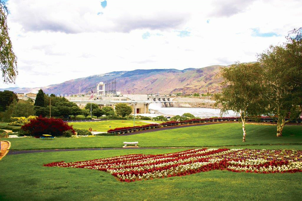 . The grounds of the Rocky Reach Dam in Wenatchee, Washington. (Provided by the Wenatchee Valley Chamber of Commerce)