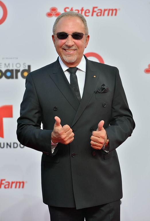 . MIAMI, FL - APRIL 25:  Emilio Estefan arrives at Billboard Latin Music Awards 2013 at Bank United Center on April 25, 2013 in Miami, Florida.  (Photo by Gustavo Caballero/Getty Images)