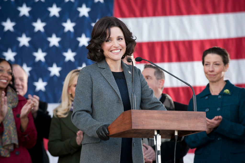 ". This publicity image released by HBO shows Julia Louis-Dreyfus in the comedy series ""Veep.\"" Louis-Dreyfus was nominated for an Emmy Award for best actress in a comedy series on Thursday, July 10, 2014. The 66th Primetime Emmy Awards will be presented Aug. 25 at the Nokia Theatre in Los Angeles. (AP Photo/HBO, Lacey Terrell)"