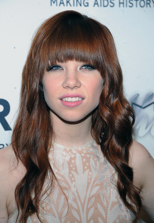 . Musician Carly Rae Jepsen attends the amfAR Inspiration Gala at the The Plaza Hotel on Thursday, June 13, 2013 in New York. (Photo by Brad Barketv/Invision/AP)