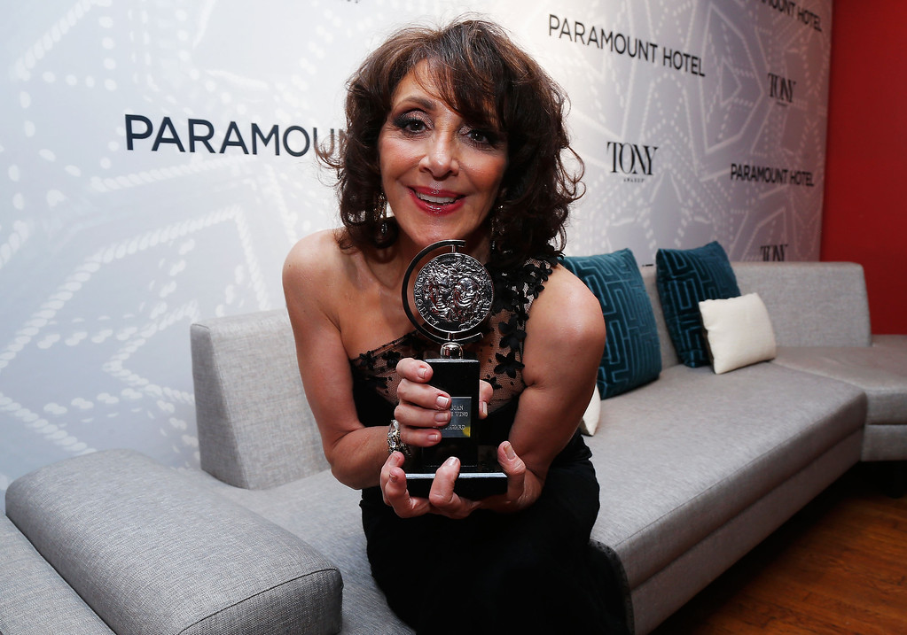 . Actress Andrea Martin, winner of Best Performance by a Featured Actress in a Musical for her role in \'Pippin,\' attends The 67th Annual Tony Awards Paramount Hotel Winners\' Room at Radio City Music Hall on June 9, 2013 in New York City.  (Photo by Jemal Countess/Getty Images for Tony Awards Productions)