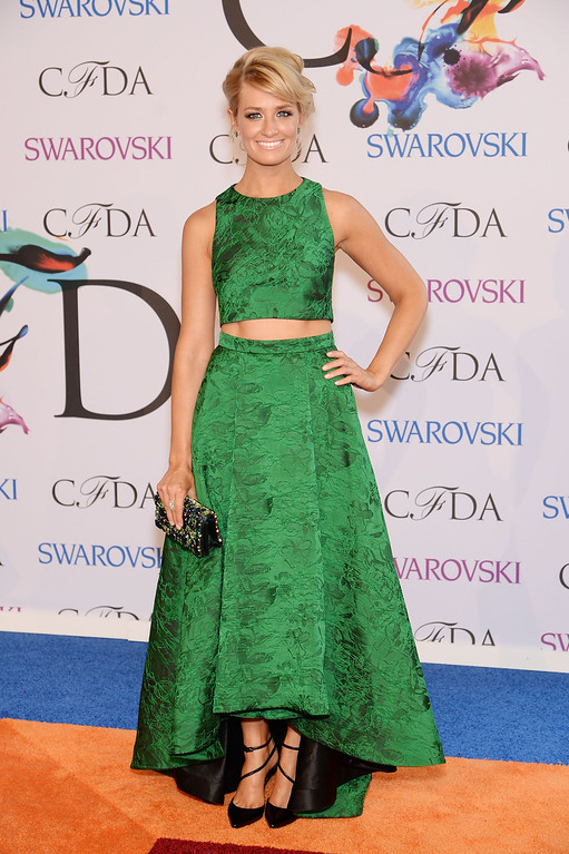 . Actress Beth Behrs attends the 2014 CFDA fashion awards at Alice Tully Hall, Lincoln Center on June 2, 2014 in New York City.  (Photo by Dimitrios Kambouris/Getty Images)