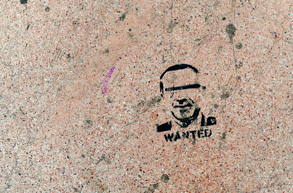 . A graffiti of Turkish Prime minister Recep Tayyip Erdogan is picture on the ground early on June 6, 2013 in Taksim, Istanbul. Prime Minister Recep Tayyip Erdogan was due back in Turkey today after a trip abroad, with thousands of angry demonstrators calling for his resignation as protests entered a seventh day. BULENT KILIC/AFP/Getty Images