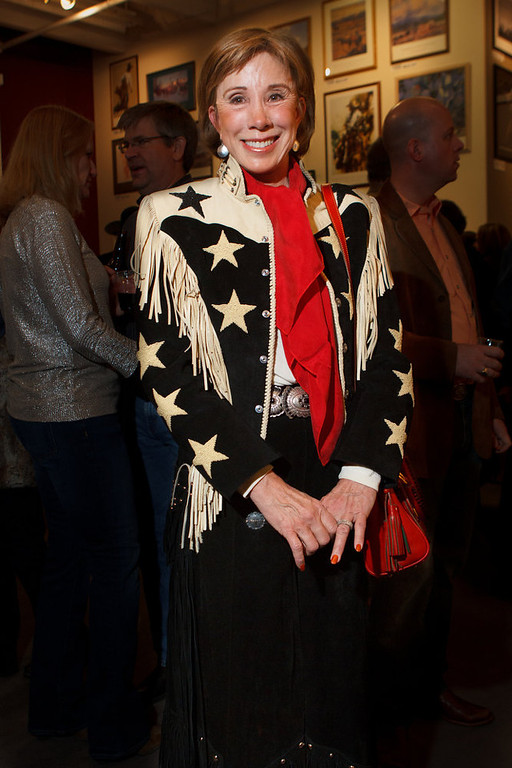 . Nancy Gooding in a vintage jacket from Tucson, Arizona.  The 2013 Coors Western Art Exhibit and Sale Red Carpet Reception at the National Western Stock Show Complex in Denver, Colorado, on Tuesday, Jan. 8, 2013. Photo Steve Peterson