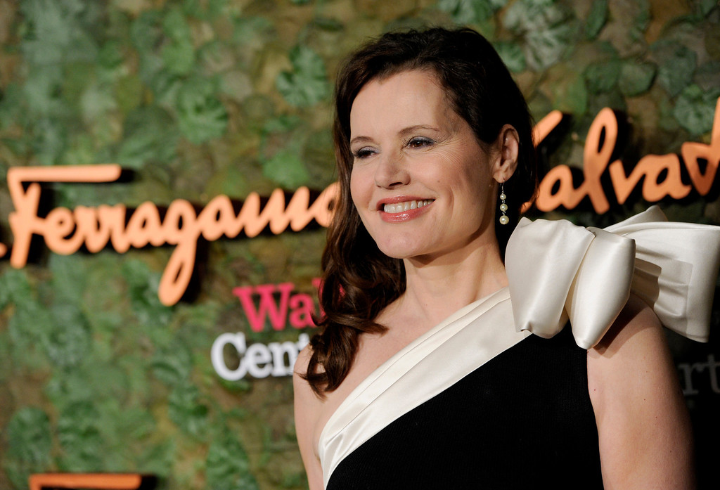 . Actress Geena Davis arrives at the Wallis Annenberg Center for the Performing Arts Inaugural Gala on Thursday, Oct. 17, 2013, in Beverly Hills, Calif. (Photo by Chris Pizzello/Invision/AP)