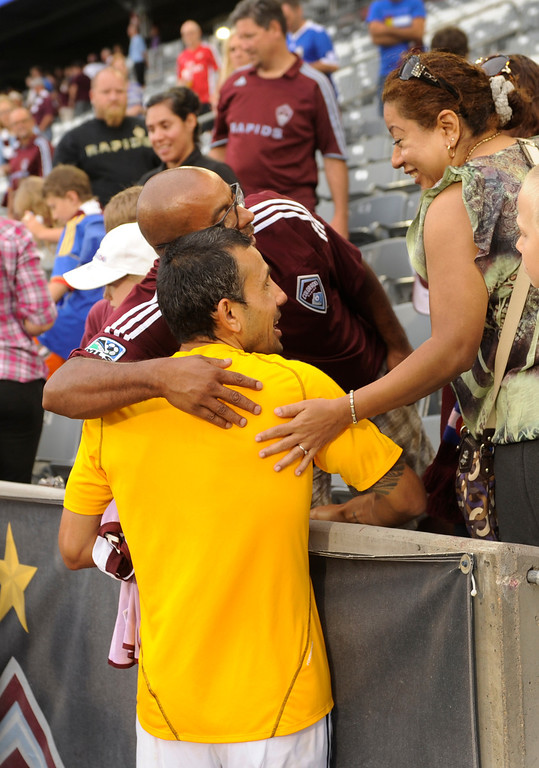 . COMMERCE CITY, CO. - JULY 27:  Former Rapids player Pablo Mastroeni talked with fans following the game. The Colorado Rapids defeated the Los Angeles Galaxy 2-0 Saturday, July 27, 2013.  Photo By Karl Gehring/The Denver Post